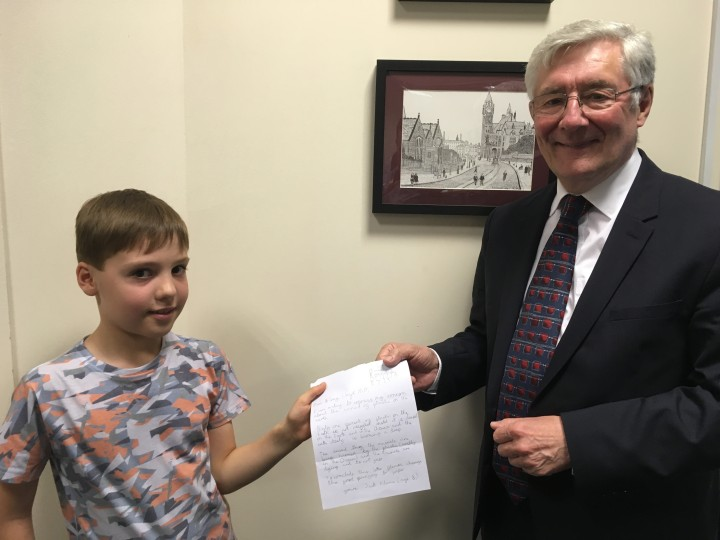 Jack hands Tony his letter